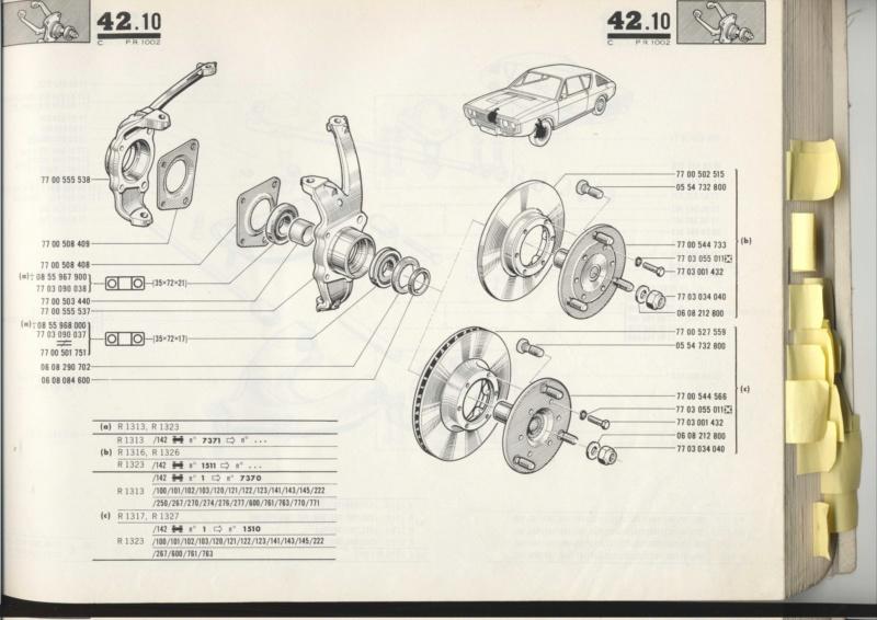 Support etrier de frein avant Pr100222