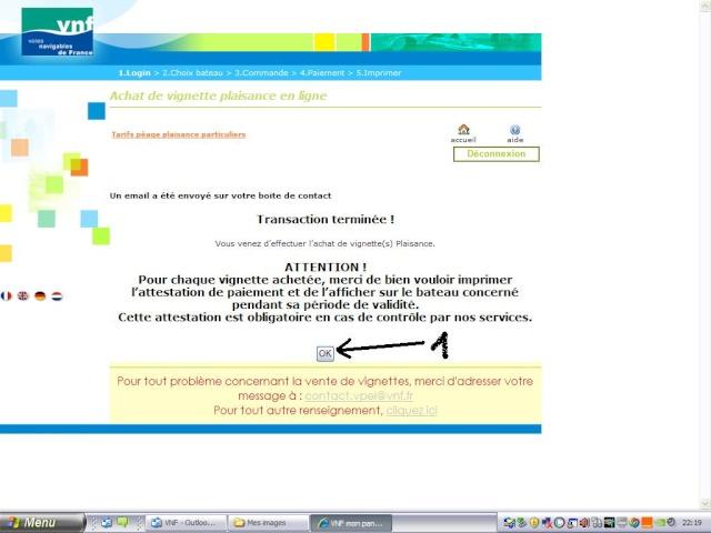 Achat vignette VNF 2010 par internet Page1710