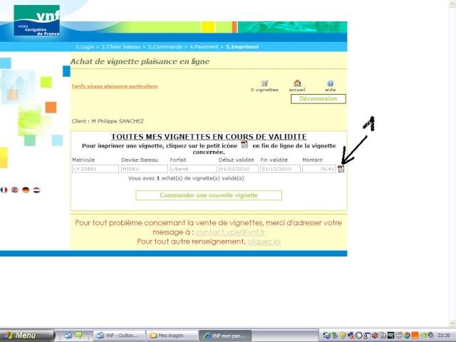 Achat vignette VNF 2010 par internet Page1810