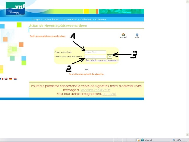 Achat vignette VNF 2010 par internet Page510