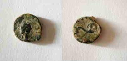 Bronce de Massalia (r: delfín, Galia) 13-2-010
