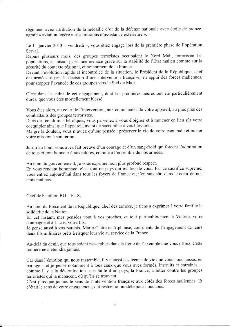Boiteux Dominique Chef de Bataillon 4ème RHFS Mort au Champ d'Honneur au Mali le 11 janvier 2013 - opération SERVAL Eloge_12