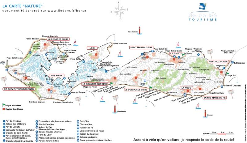 Île de Ré, Charentes-Maritimes, France Carte_10