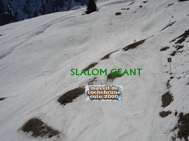 Slalom géant; Megève Rochebrune Côte 2000 Dsc01423