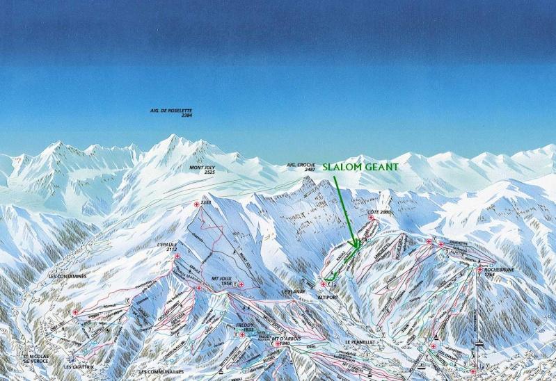 Slalom géant; Megève Rochebrune Côte 2000 Slalom10
