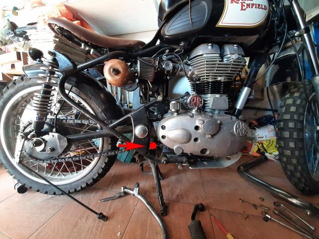 [RESOLU] Déplacer la pédale de frein arrière sur mon bobber+ commande reculée sélecteur tout le déroulé de la modiff....... 20200412