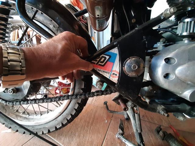 [RESOLU] Déplacer la pédale de frein arrière sur mon bobber+ commande reculée sélecteur tout le déroulé de la modiff....... 20200413