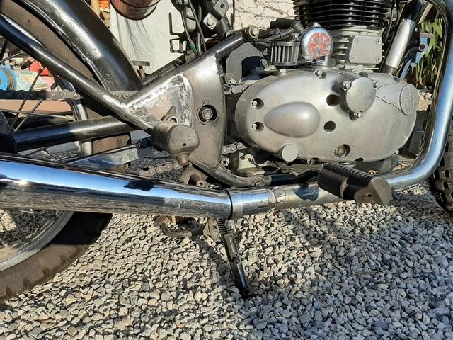 [RESOLU] Déplacer la pédale de frein arrière sur mon bobber+ commande reculée sélecteur tout le déroulé de la modiff....... 20200416