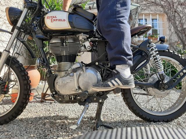 [RESOLU] Déplacer la pédale de frein arrière sur mon bobber+ commande reculée sélecteur tout le déroulé de la modiff....... 20200418