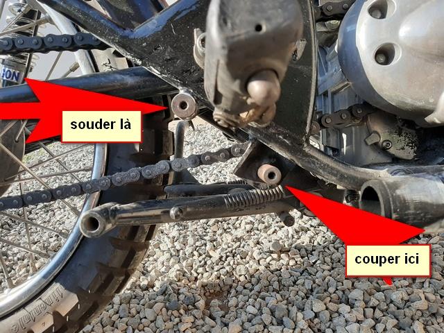 [RESOLU] Déplacer la pédale de frein arrière sur mon bobber+ commande reculée sélecteur tout le déroulé de la modiff....... 20200424