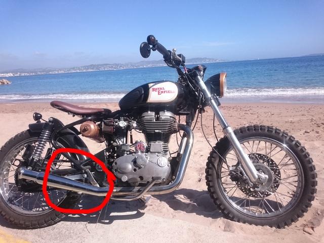 [RESOLU] Déplacer la pédale de frein arrière sur mon bobber+ commande reculée sélecteur tout le déroulé de la modiff....... Dsc_8620