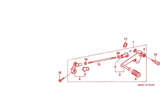 [RESOLU] Déplacer la pédale de frein arrière sur mon bobber+ commande reculée sélecteur tout le déroulé de la modiff....... Pedale10