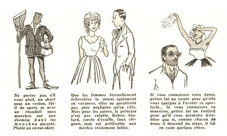 1955 : La bonne tenue en vacances E110
