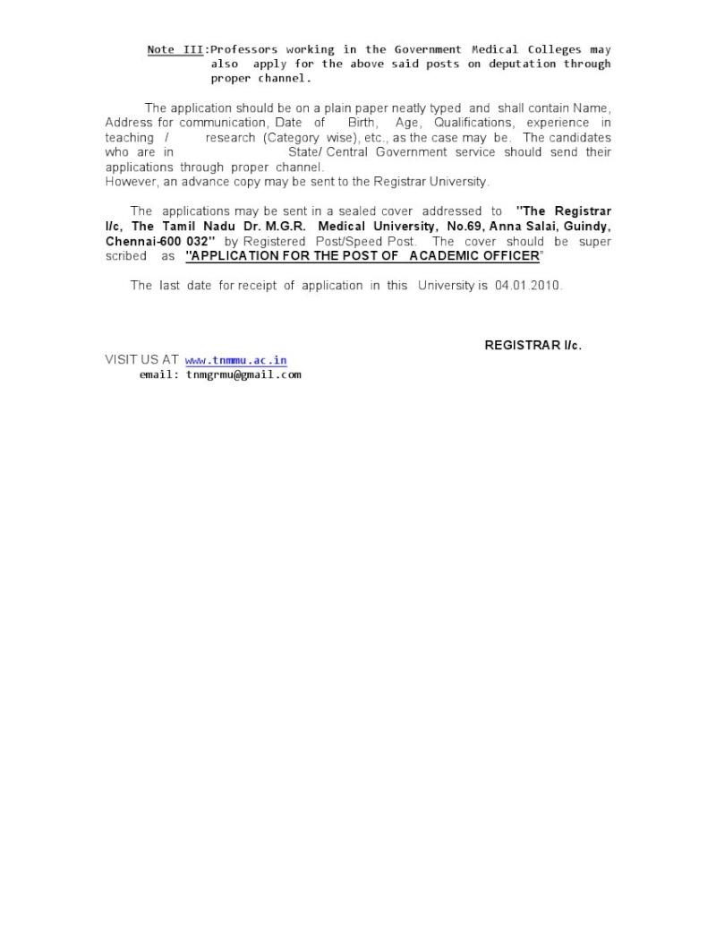Tamilnadu Dr. M. G. R. Medical University Ao110