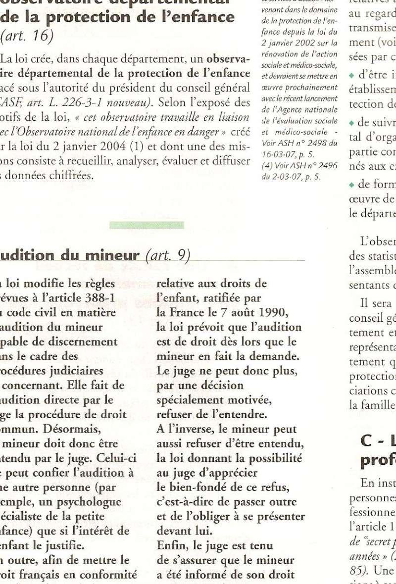 L'enfant doit etre entendu, la loi le stipule (patricia) Numeri14
