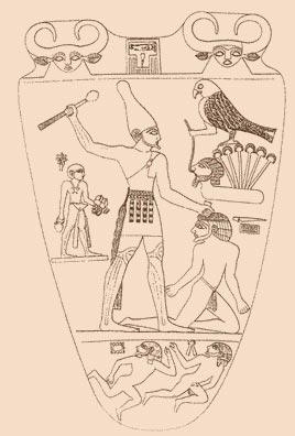 La palette de Narmer Narmer10