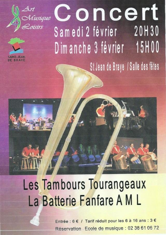 Concert février 2013- BF de St Jean de Braye et Les Tambours Tourangeaux Affich10