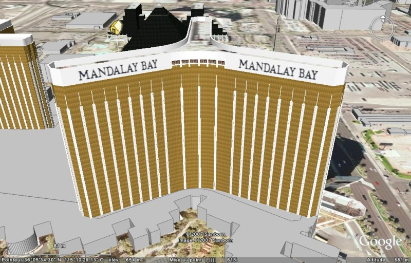 Luxor, Mandalay Bay & MGM Grand à Las Vegas, Nevada - Etats-Unis Mandal11