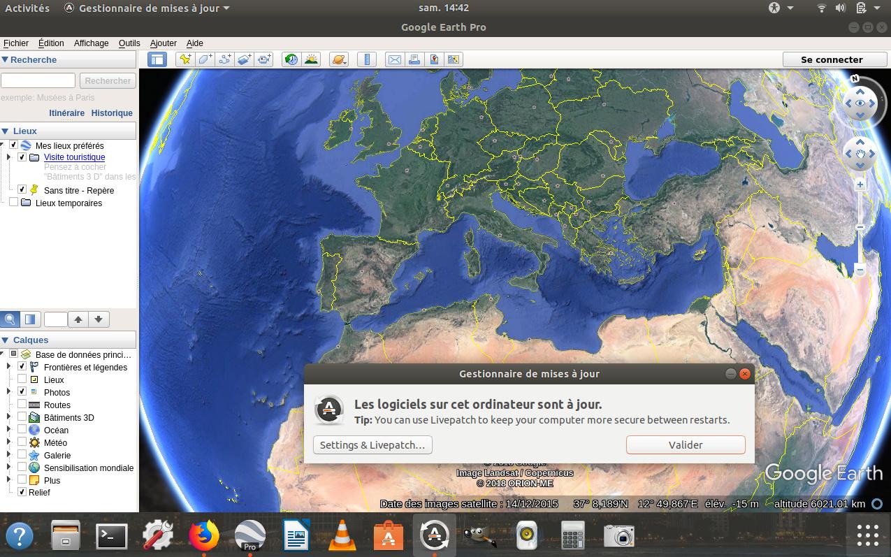 [résolu] Affichage Google Earth pro sur Ubuntu 16.04 Captur14