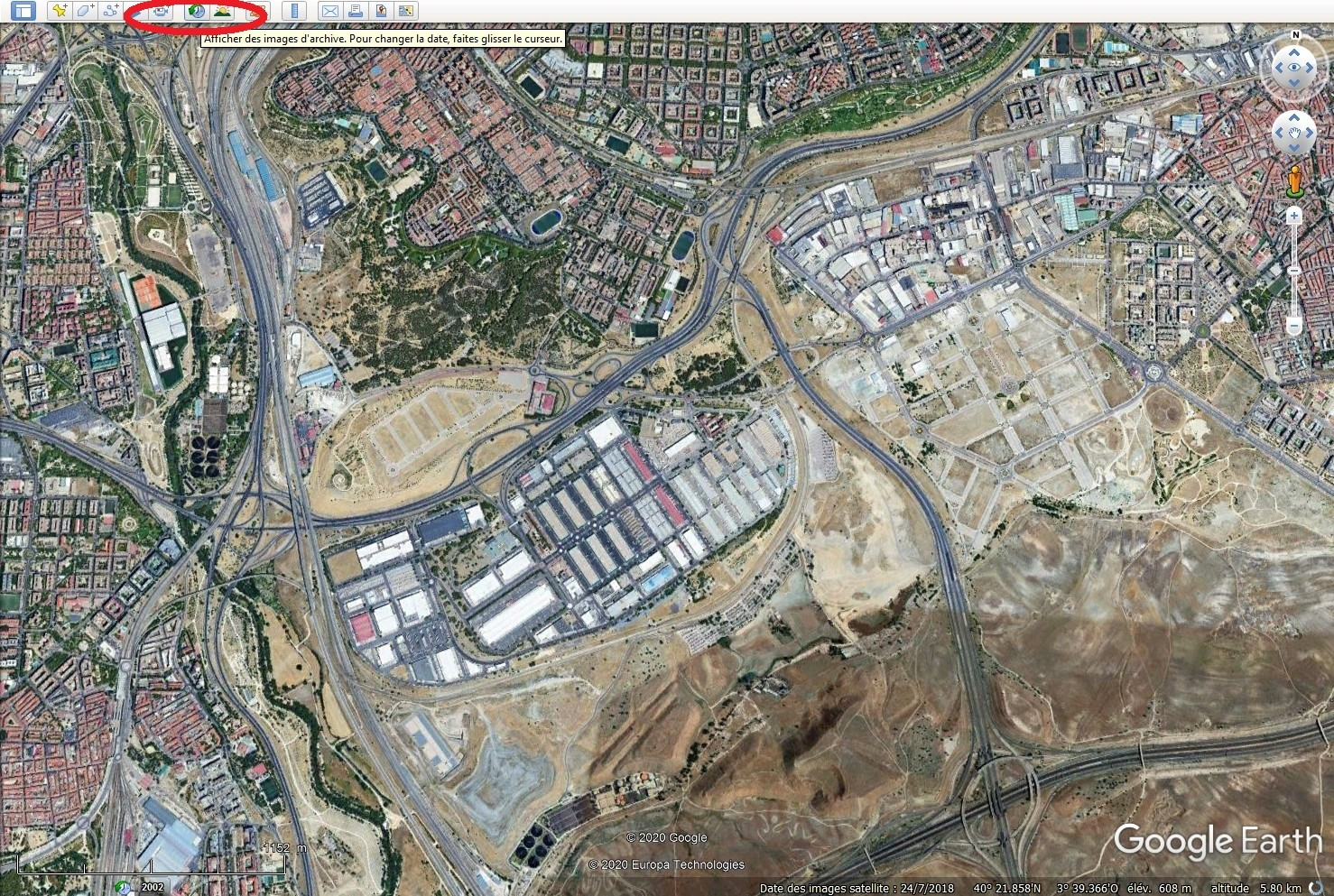 [résolu] Images d'archives dans Google Earth Tsge1104