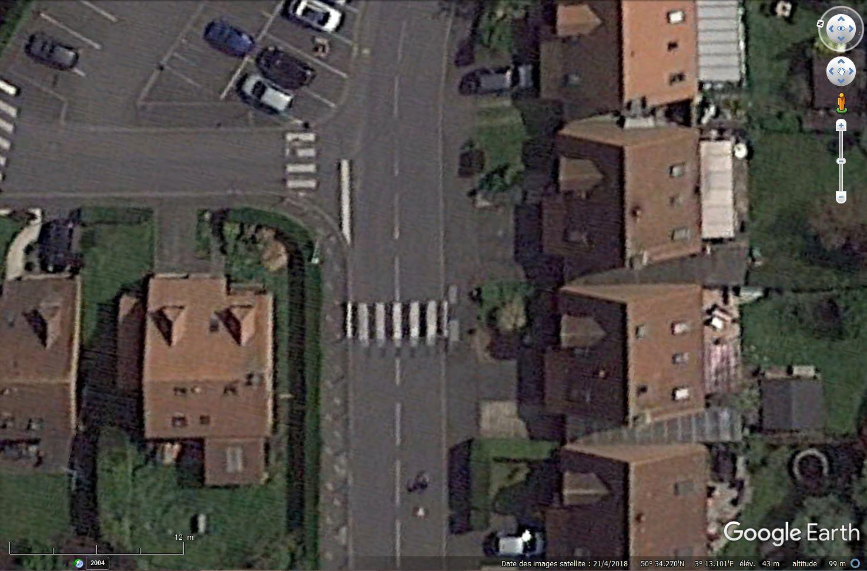 [Désormais visible sur Google-Earth] - Le passage piétons 3D de Cysoing, Nord Tsge1244