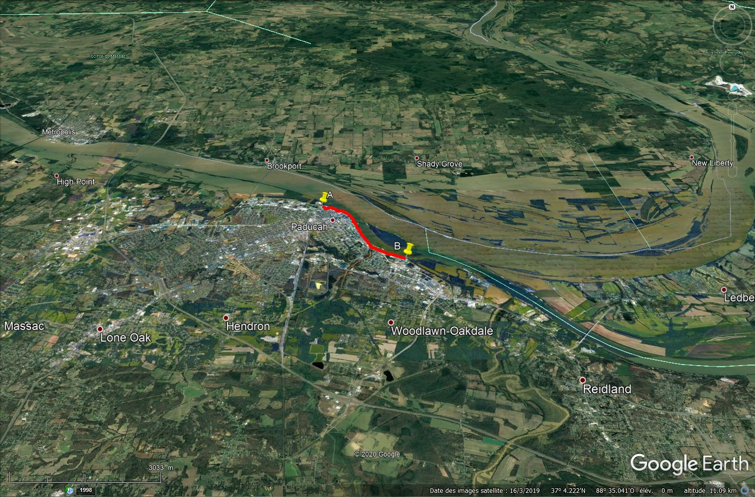 Digues, flood Walls... Les aménagements anti-inondation illustrés avec Google Earth Tsge1317