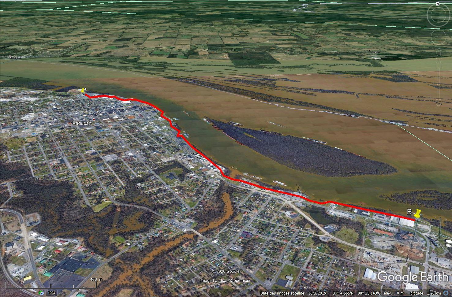 Digues, flood Walls... Les aménagements anti-inondation illustrés avec Google Earth Tsge1318