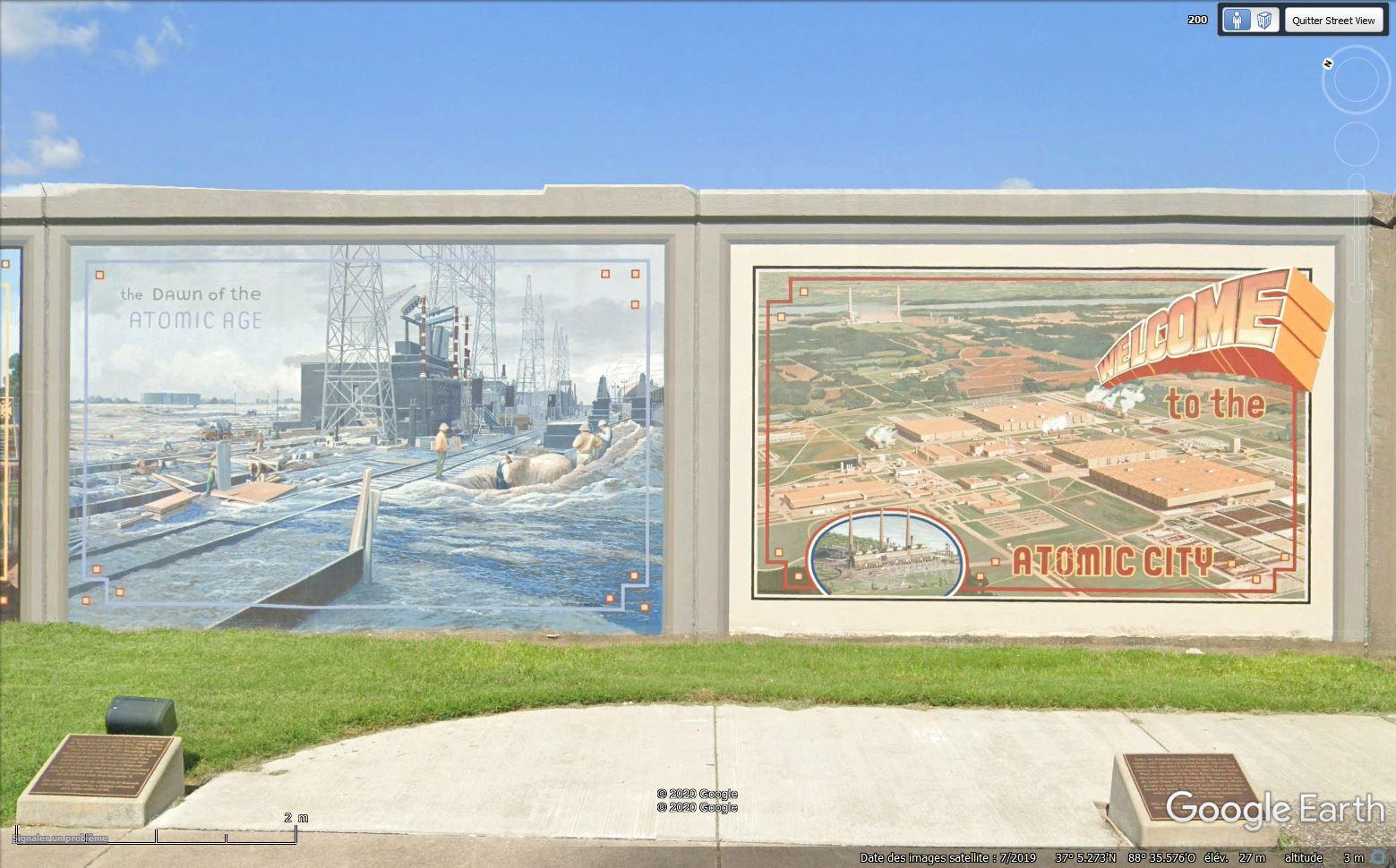 Digues, flood Walls... Les aménagements anti-inondation illustrés avec Google Earth Tsge1325