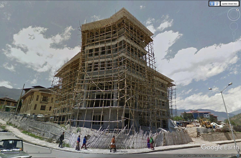 STREET VIEW - Les échafaudages en bambous Tsge1334