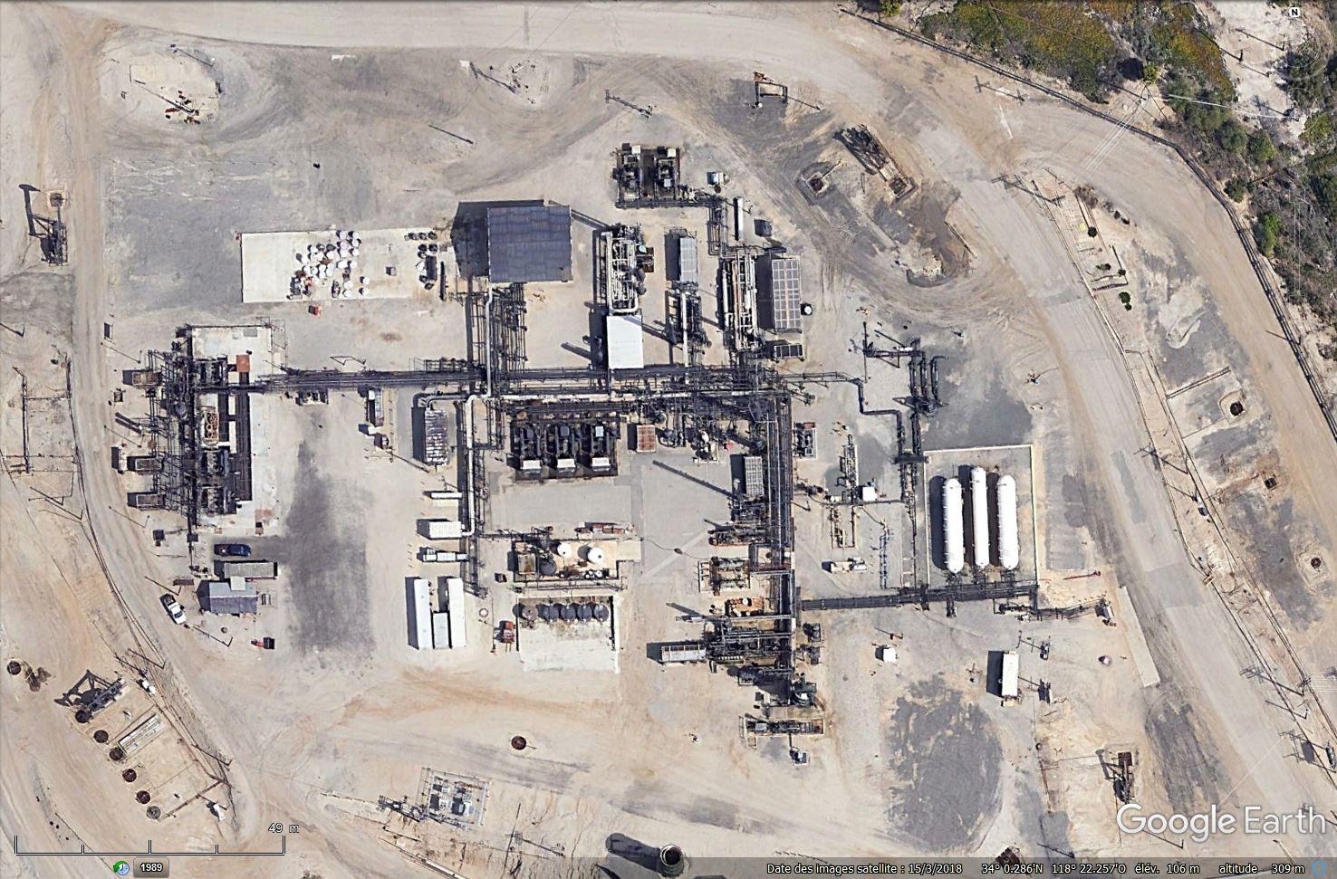 Puits de pétrole à Los Angeles, Californie - USA Tsge1509