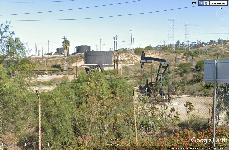 Puits de pétrole à Los Angeles, Californie - USA Tsge1512