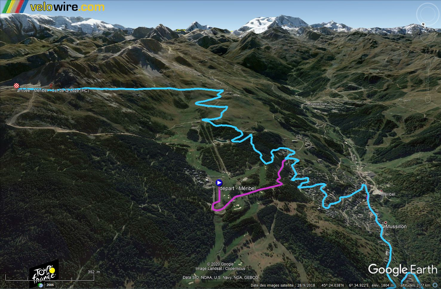 [KMZ] Le parcours du Tour de France 2020 dans Google Earth Tsge1643