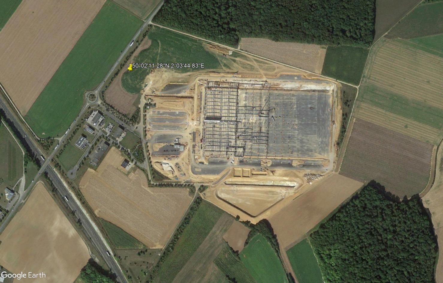 [Bientôt visible] Plateforme logistique à Flixecourt, Somme Tsge2344