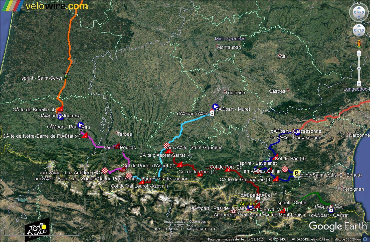 [KMZ] Le parcours du Tour de France 2021 dans Google Earth Tsge2347