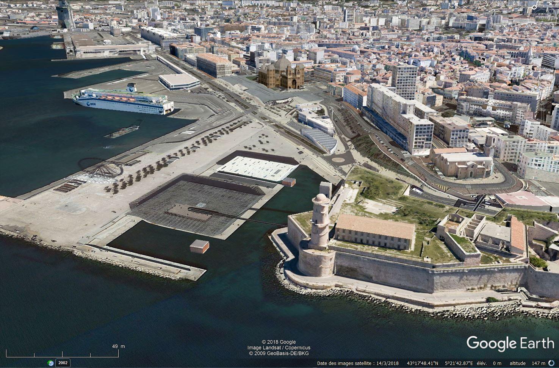 [Désormais visible sur Google-Earth] Le MuCEM - Marseille - France Tsge_192