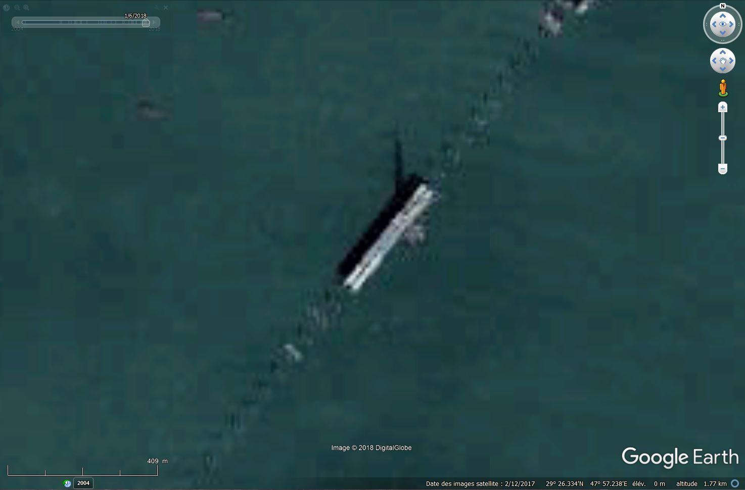 (Bientôt visible sur GE) Un pont sur la mer, de 36 km, à Koweït City. Tsge_375
