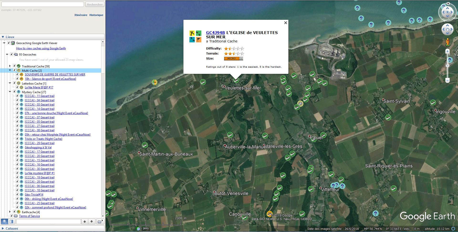 [KML] Geocaching Google Earth Viewer Tsge_965