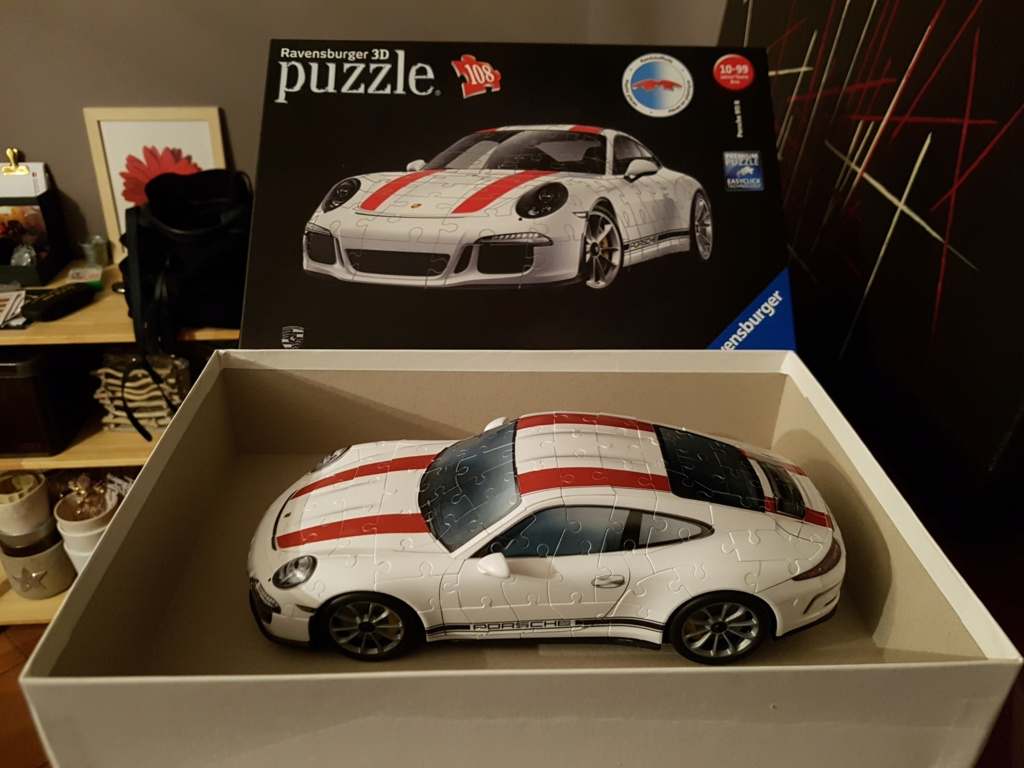 porsche 911 r en puzzle 3d. Black Bedroom Furniture Sets. Home Design Ideas