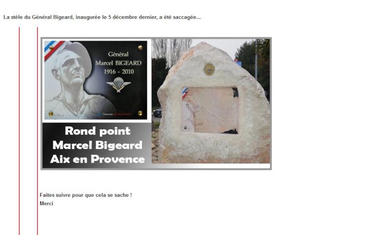 Le général Piquemal dévoile une plaque en hommage au général Bigeard VANDALISEE un mois après 2013-011