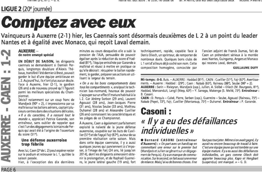 [20e journée de L2] AJ Auxerre 1 - 2 SM Caen - Page 6 Eqp13010