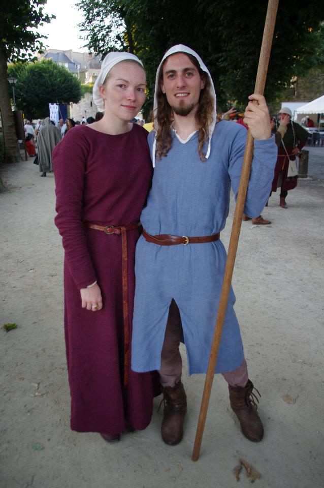 Costumes couple XIIIe Classe moyenne 53013110