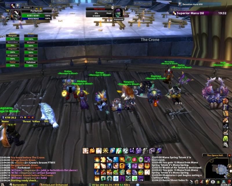 Some killshots of some bosses slain by the new raid grp Thecro10