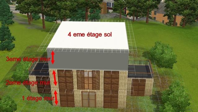 [Apprenti] Réalisation du toit en pente. Explic10