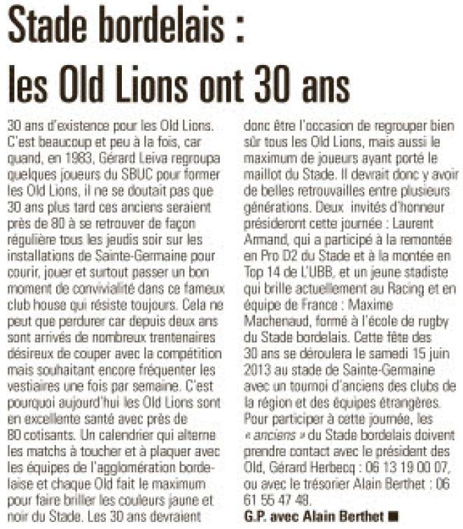 30 ans des Old Lions Sans_t30