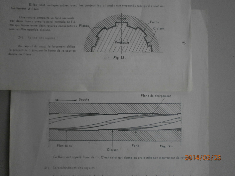 Ecart entre fond de rayure et projectile P2230310