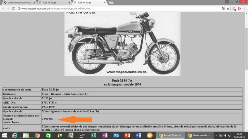 Motor de cobra con numeración rara Puch_m10