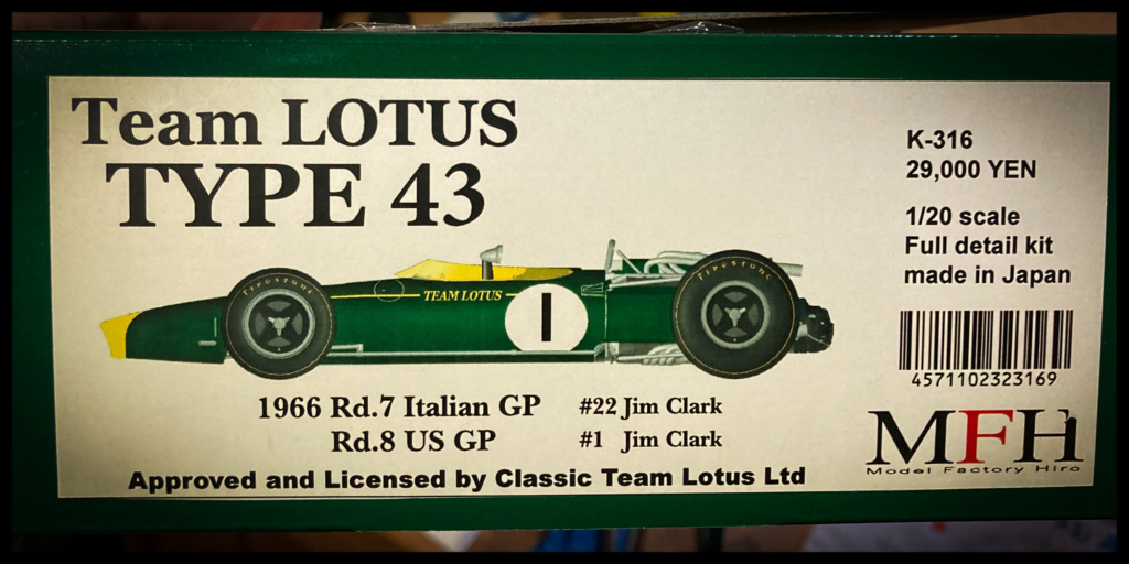 Lotus 43 BRM, Jim Clark, US GP 1966 Watkins Glen. MFH 1/20. B233b010