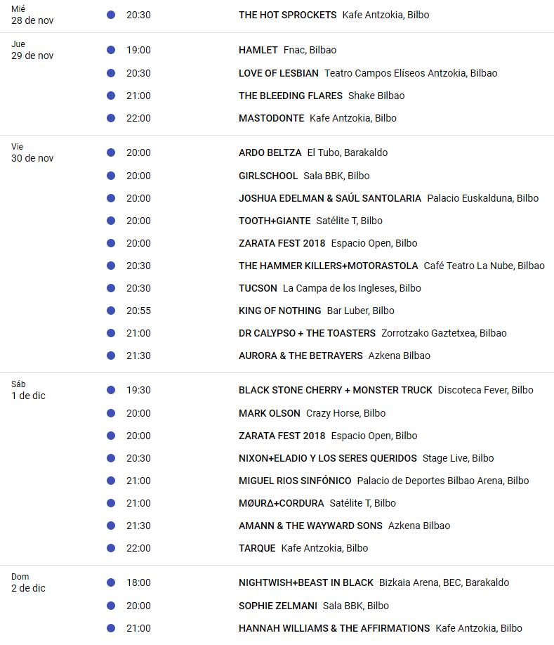CULTURA ROCKERA 3.0. Si las giras se siguen haciendo en Euskadi es porque funcionan. - Página 8 Agenda12