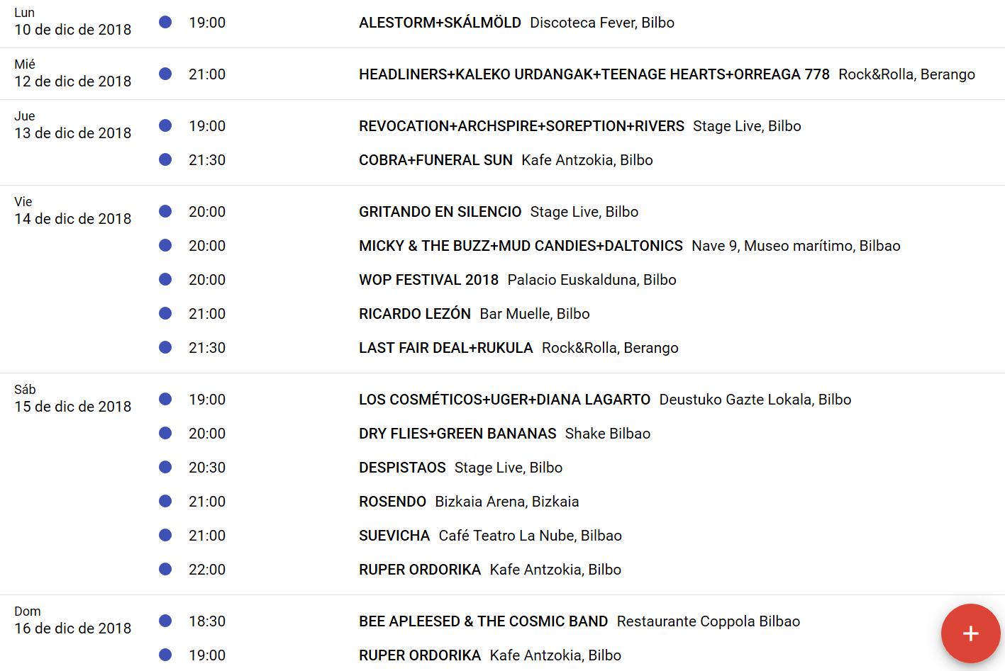 CULTURA ROCKERA 3.0. Si las giras se siguen haciendo en Euskadi es porque funcionan. - Página 8 Agenda13