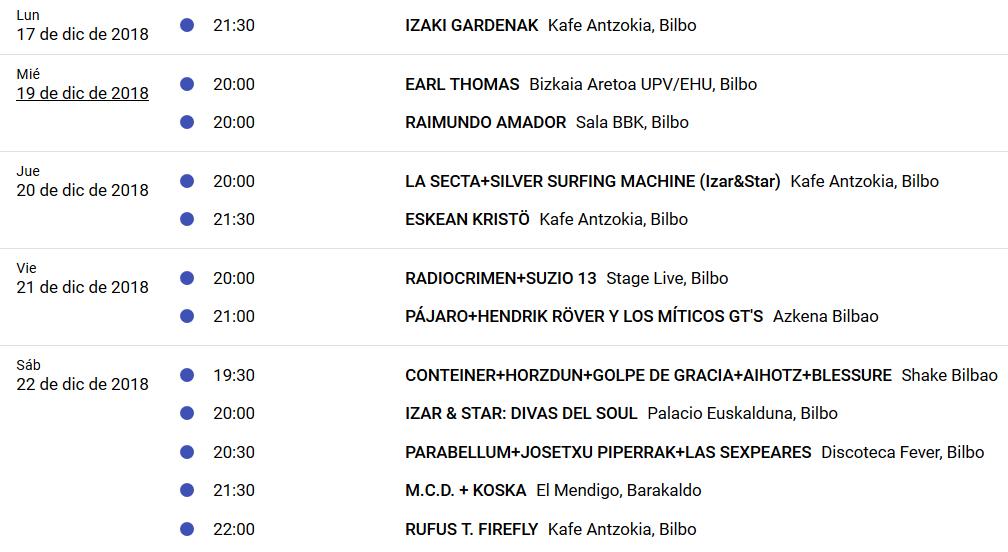 CULTURA ROCKERA 3.0. Si las giras se siguen haciendo en Euskadi es porque funcionan. - Página 8 Agenda14